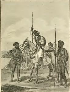 Аскеты в лагере маратхов в Раджастхане, 1809 г.