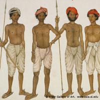 Five Recruits. (c) Freer Gallery of Art. www.asia.si.edu