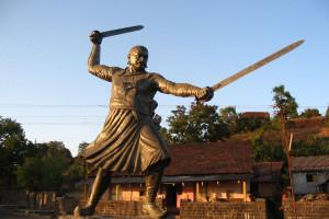 Баджи Прабху, маратхский сардар, погиб, сражаясь с моголами