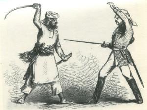 Колющий удар - вершина фехтования