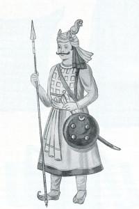 Солдат-раджпут, XVII век